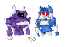 G1 Transformers Chibi Soundwave Shockwave by AnimeJanice