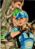 Jill and Chris RE5 by Rociiio