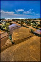 Lines In The Sand HDR by wingsoftheosiris