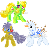 Holiday  pony adoptables! by Sakuyamon