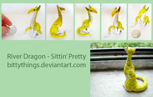 River Dragon - Sitting Pretty - SOLD by Bittythings