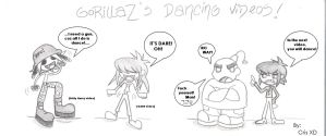 GorillaZ: Dancing videos XD by GND-KicaCris