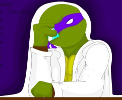 52-Deep in Thought--Donatello by BlackCatWhiteStar