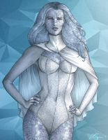 Emma Frost - Diamond Form Version by JGiampietro