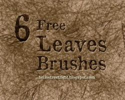 Free Brush Set 13: Leaves, Leaf veins by tau-kast