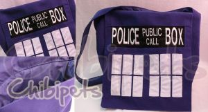 Tardis Messenger bag by Chibi-pets