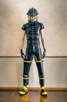 Fire Gear and Latex by icefoxx