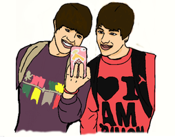 Austin Mahone and Alex Constancio by R5RocksMyWorld