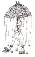 .:Raining Umbrellas:. by ColorMyMemory