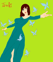 Request: Satomi and the Butterflies by AskTsuki