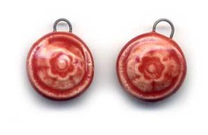 Cerise Ceramic Charms by ChinookDesigns