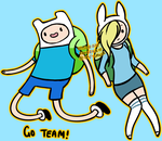 Finn and Fionna by mchlsu