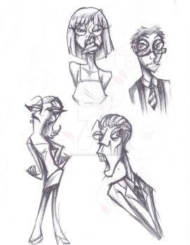 Pencil sketch people by ShadowPuppetteer