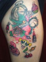 mixed up girly tattoo by nickneze