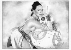 Star Wars Rey Daisy Ridley The Force Awakens by TimGrayson