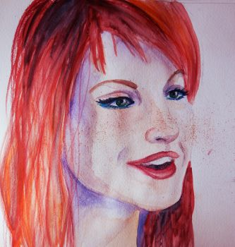 Hayley Watercolour by clementine-petrova