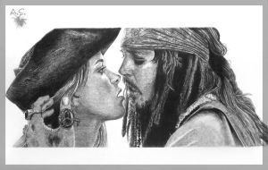 Jack Sparrow and Elizabeth by wind-up5