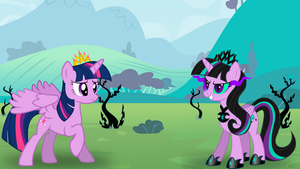 Twilight's First Battle with Twivine Sparkle by DashieMLPFiM