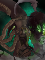 Abathur and Izsha by WeisseEdelweiss