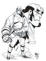 Hellboy - 'Ringo - Egli - Inks by SurfTiki