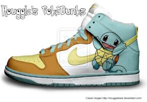 Squirtle Nike Dunks by Houggiebear