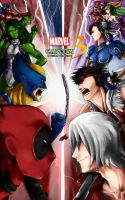 Marvel VS Capcom 3 fan art by Springs