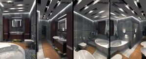 Contemporary Bathroom 3 by 1zmim