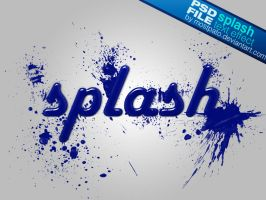 PSD Splash Text Effect by mostpato