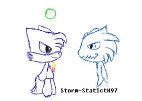 Blurry and Jolt by StormerStatic