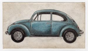 VW in crayon by bashcorpo