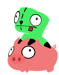 Vector Gir and... a Pig? by keimotion