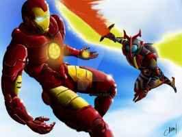 iron man vs kamen rider kabuto original by marveen