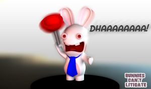 Rabbid Copyright Lawyer by UnexpectedToy