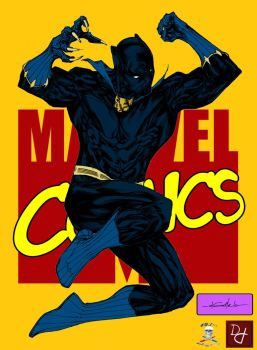 Jumping T'challa by CDL113