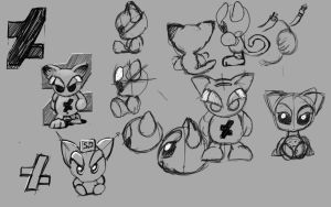 My fella concept sketches  by hoschie