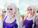 Frozen-Elsa cosplay makeup by kanamecosplay