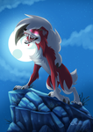 Lycanroc - moon by hecatehell