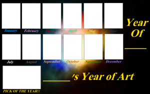 Year of Art Template by cmr-1990