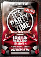 It's Party Time Flyer Template by mrwooo