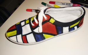 Mondriaan shoes by kimbolie12