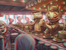 Sushi Bar 3-D conversion by MVRamsey