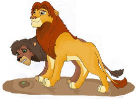 Simba and Kovu by Nucozih