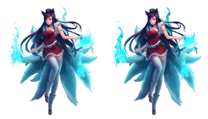 Ahri League of Legends Render by Nezu-nyan