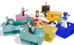 VOCALOID CardBoard Boxes DL by Metalmiku2