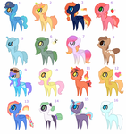 MLP Song themed adopts (OPEN) by NeonRacoon