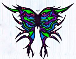 Tribal Butterfly by Gingerifical