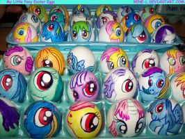My Lil' Pony- Easter Eggs by Rene-L