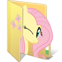 Fluttershy Folder Icon by BigMemoire