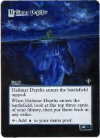 Magic Card Alteration: Halimar Depths by Ondal-the-Fool