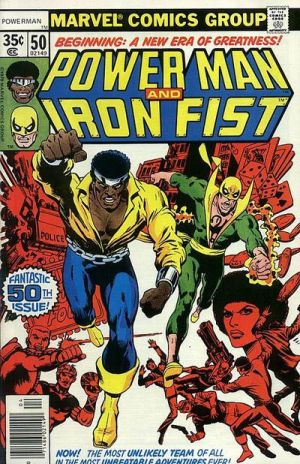 Power Man and Iron Fist 50th Issue cover by DarkWolfWavius